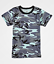 Rothco Boys Sky Blue Camo T-Shirt