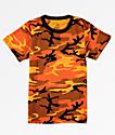 Rothco Savage camiseta de camuflaje naranja para niños