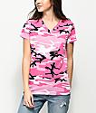 Rothco V-Neck Pink Camo T-Shirt