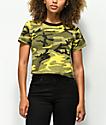 Rothco Yellow Camo Crop T-Shirt