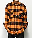 Rothco camisa de franela naranja y negra