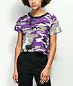 Rothco camiseta corta de camuflaje violeta