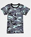 Rothco camiseta de camuflaje azul claro para niños