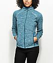 Roxy Harmony Ink Blue Zip Up Tech Fleece