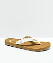 Roxy Porto sandalias en color crema