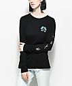 Roxy Radical Checkers Black Long Sleeve T-Shirt