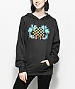 Roxy Radical Checkers Charcoal Hoodie