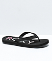 Roxy Vista Black Sandals