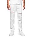 Rustic Dime Biker jeans angustiados blancos