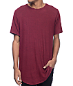 Rustic Dime Heather Burgundy & Black Elongated T-Shirt