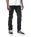 Rustic Dime Shredded Taper Fit Black Jeans
