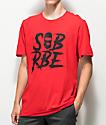 SOB x RBE Ski Mask Red & Black T-Shirt