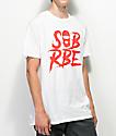 SOB x RBE Ski Mask camiseta blanca y roja