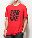 SOB x RBE Ski Mask camiseta roja y negra