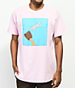 SOMEHOODLUM Catching Feelings Pink T-Shirt