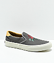 STRAYE Ventura Rose Grey & White Slip-On Skate Shoes