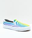 STRAYE Ventura Slip-On zapatos de skate de cuadros arcoíris