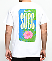 SUCC Nice Succ Flower camiseta blanca
