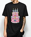 Salem7 666 Cake camiseta negra