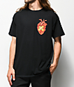 Salem7 Heart Black T-Shirt