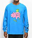 Salem7 Piggy Bank Blue Long Sleeve T-Shirt