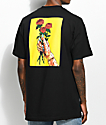 Salem7 Roses Black T-Shirt