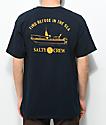 Salty Crew Admiral camiseta azul marino y amarilla