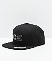 Salty Crew Alpha Stamped Black Snapback Hat