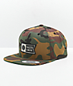 Salty Crew Alpha Stamped Camo Snapback Hat