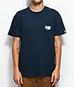 Salty Crew Alpha camiseta en azul marino con bolsillo