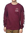 Salty Crew Ballast Burgundy Long Sleeve T-Shirt