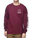 Salty Crew Ballast camiseta de manga larga en color vino