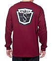 Salty Crew Fly Bridge camiseta de manga larga en color borgoño