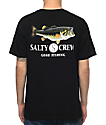 Salty Crew Green Bass camiseta negra