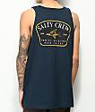 Salty Crew Leeward camiseta sin mangas en azul marino