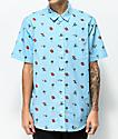 Salty Crew Rocks & Docks Blue Short Sleeve Button Up Shirt