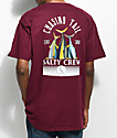 Salty Crew Tails Up Burgundy T-Shirt