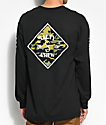 Salty Crew Tippet Black & Camo Long Sleeve T-Shirt