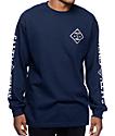 Salty Crew Tippet camiseta de manga larga en azul marino
