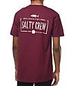 Salty Crew Waypoint Burgundy T-Shirt