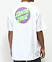 Santa Cruz Beach Dot camiseta blanca