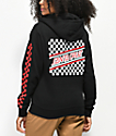 Santa Cruz Checkered Stripe Black & Red Hoodie