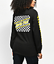 Santa Cruz Checkered Stripe Black & Yellow Long Sleeve T-Shirt