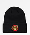 Santa Cruz Classic Dot Black Beanie