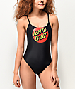Santa Cruz Classic Dot Black One Piece Swimsuit