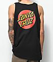 Santa Cruz Classic Dot Black Tank Top