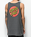 Santa Cruz Classic Dot Heather Grey Tank Top