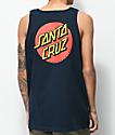 Santa Cruz Classic Dot Navy Tank Top