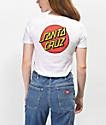 Santa Cruz Classic Dot White T-Shirt