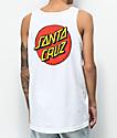 Santa Cruz Classic Dot White Tank Top